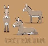 Donkey Contentin Cartoon Vector Illustration. Animal Cartoon EPS10 File Format Royalty Free Stock Image