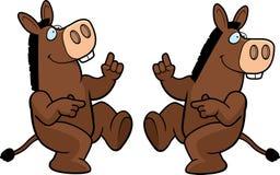 Donkey Dancing stock illustration