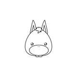 Donkey Drawing Face Royalty Free Stock Image