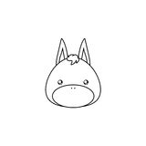 Donkey Drawing Face Royalty Free Stock Images