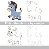 Donkey. Drawing worksheet. Stock Photos