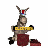 Donkey - Early Christmas Gift 1 stock illustration