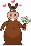 Donkey Flowers Stock Photography