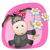 Donkey with flowers Royalty Free Stock Images