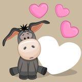 Donkey with hearts Royalty Free Stock Photo