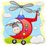 Donkey in helicopter Royalty Free Stock Photo