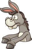 Donkey in hole Stock Photo