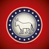 Donkey inside button of vote concept Stock Images