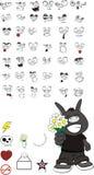 Donkey kid carton set0. Donkey kid cartoon set in format stock illustration