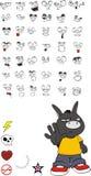 Donkey kid carton set3. Donkey kid cartoon set in format royalty free illustration