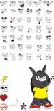 Donkey kid carton set0. Donkey kid cartoon set in format royalty free illustration
