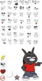 Donkey kid carton set1. Donkey kid cartoon set in vector format stock illustration
