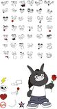 Donkey kid carton vector set2. Donkey kid cartoon set in vector format stock illustration