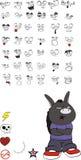 Donkey kid carton vector set. Donkey kid cartoon set in vector format stock illustration