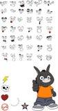 Donkey kid carton vector set ok. Donkey kid cartoon set in vector format vector illustration