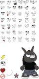 Donkey kid cartoon set1. Donkey kid cartoon set in format stock illustration