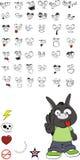 Donkey kid cartoon set vector0. Donkey kid cartoon set in vector format vector illustration