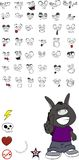 Donkey kid cartoon  set vector 5 Royalty Free Stock Photos