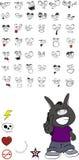 Donkey kid cartoon set vector 5. Donkey kid cartoon set in vector format vector illustration