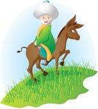 Donkey and man Stock Images