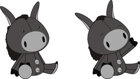 Donkey plush cartoon Royalty Free Stock Images