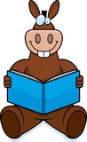 Donkey Reading Royalty Free Stock Photos
