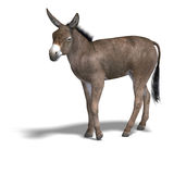 Donkey Render Royalty Free Stock Image