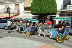 Donkey ride, Mijas. Royalty Free Stock Photos