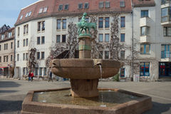 Donkey's fountain, Halle (Saale), Germany Royalty Free Stock Image
