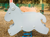 Donkey shaped game in a children playground Stock Photo