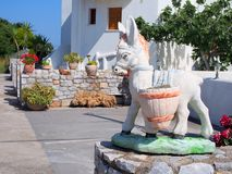 Donkey Statue, Greek Island Royalty Free Stock Photo