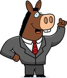 Donkey Suit. A cartoon donkey in a suit and tie Stock Photos