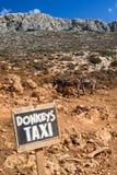 Donkey taxi in Crete island, Greece Stock Photo