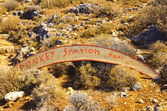 Donkey taxi station sign, island of Crete, Greece Stock Photo