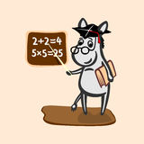 Donkey teacher illustration Royalty Free Stock Images