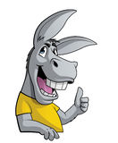 Donkey with thumbs up Royalty Free Stock Photo