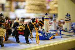 Donkey toy in the store in Larnaca, Cyprus. 2016 Stock Photos
