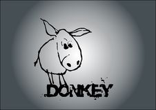 Donkey vector Stock Image