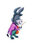 Donkey with a violin Royalty Free Stock Image