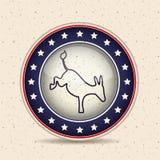 Donkey of vote inside button design Stock Photos