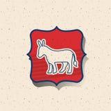 Donkey of vote inside frame design Stock Image