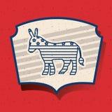 Donkey of vote inside frame design Royalty Free Stock Image
