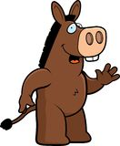 Donkey Waving Stock Photo