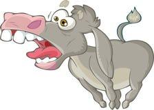 Donkey who shouts Stock Image