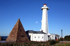 Donkin Lighthouse and Pyramid in Port Elizabeth Stock Images