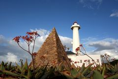 Donkin Pyramid and Lighthouse. The pyramid and lighthouse at the Donkin Reserve in Port Elizabeth, South Africa Royalty Free Stock Image