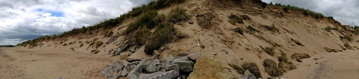 Donmouth Locak naturreserv som är norr Royaltyfria Bilder