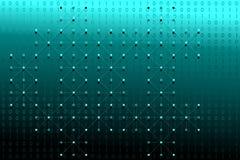 Données binaires de Digital avec les points blancs et lignes réseau sur le fond bleu et blanc de gradient Illustration de vecteur Photo libre de droits