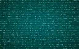 Données binaires de Digital et couler le fond de code binaire Fond de Matrix avec les chiffres 1 Illustration de vecteur Image libre de droits
