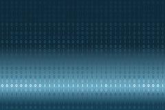 Données binaires de Digital sur le fond bleu et blanc de gradient Moderne, la science, technologie, ordinateur de virus, entailla Images libres de droits